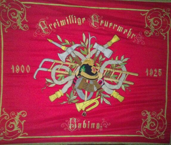 Fahne der FF Jabing