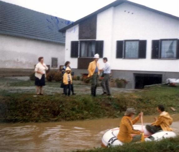 Hochwasser in Jabing